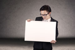 Businessman with copy space Stock Photography