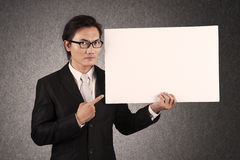 Businessman with copyspace Royalty Free Stock Photos