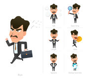 Businessman corporate life flat design 7set-boss Royalty Free Stock Photo