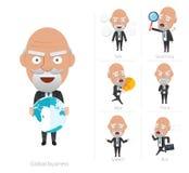 Businessman corporate life flat design 7set-ceo Stock Photos