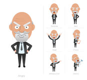 Businessman corporate life flat design 7set-ceo Stock Images