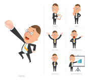 Businessman corporate life flat design 7set-employee Royalty Free Stock Photography