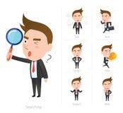 Businessman corporate life flat design 7set-employee Stock Image