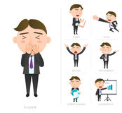 Businessman corporate life flat design 7set-employee Royalty Free Stock Photos