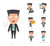 Businessman corporate life flat design 7set-employee Stock Photo