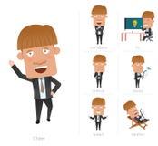 Businessman corporate life flat design 7set-employee Royalty Free Stock Photography