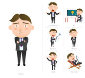 Businessman corporate life flat design 7set-employee Royalty Free Stock Photo