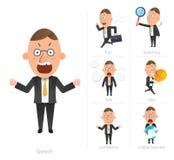 Businessman corporate life flat design 7set-employee Royalty Free Stock Photo