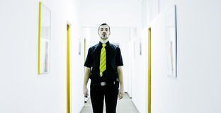 Businessman in corridor Royalty Free Stock Photography