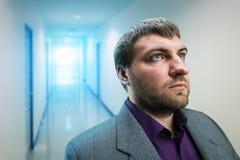 Businessman in the corridor Stock Photos