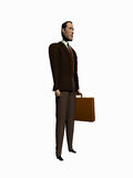 Businessman cortoon render over white. Royalty Free Stock Images