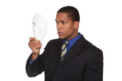 Businessman - costume mask Royalty Free Stock Photo