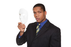 Businessman - costume mask Royalty Free Stock Image