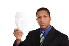Businessman - costume mask Royalty Free Stock Images