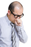 Businessman with cough Stock Image