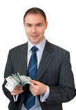 Businessman count cash. Royalty Free Stock Image