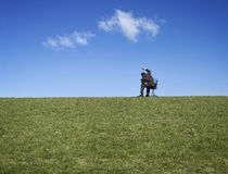 Businessman in countryside Royalty Free Stock Photos