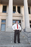 Businessman at courthouse Stock Photography