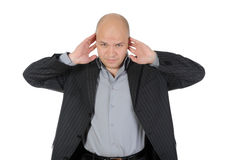Businessman covered his ears Royalty Free Stock Photo