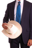 Businessman with Cowboy Hat Royalty Free Stock Image