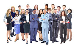 Businessman with coworkers. Royalty Free Stock Photo