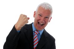 Businessman crazy with fist Stock Photos