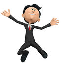 Businessman crazy jump Royalty Free Stock Image