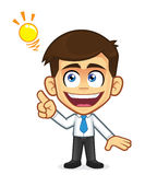 Businessman creative idea. Clipart picture of a businessman cartoon character creative idea royalty free illustration