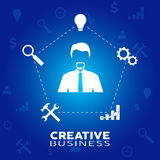 Businessman in creativity moment Stock Photography