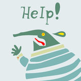 Businessman creature needs help Royalty Free Stock Photography