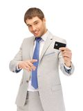 Businessman with credit card Royalty Free Stock Photo