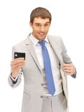Businessman with credit card Royalty Free Stock Photography