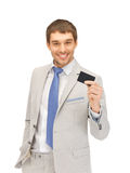 Businessman with credit card Stock Photo