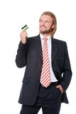 Businessman with credit card Royalty Free Stock Image