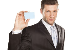 Businessman And Credit Card Royalty Free Stock Image