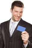 Businessman And Credit Card Royalty Free Stock Photos