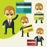 Businessman credit card Stock Images