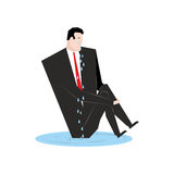 Businessman cries. Boss  in puddle of tears. Tosca and sob manag Stock Images