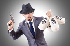 Businessman criminal Royalty Free Stock Photography