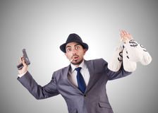 Businessman criminal Stock Image