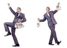 The businessman criminal with sacks of money. Businessman criminal with sacks of money Royalty Free Stock Photos