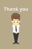 businessman cringe politeness.Vector Royalty Free Illustration