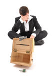 Businessman crisis Stock Photography