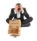 Businessman crisis Stock Images