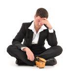 Businessman crisis Royalty Free Stock Photo