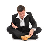 Businessman crisis Royalty Free Stock Images