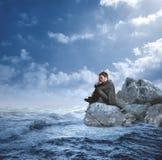 Businessman in crisis Stock Photo