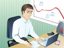 Businessman_in_crisis Royalty Free Stock Image