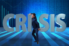 The businessman in crisis business concept Royalty Free Stock Image