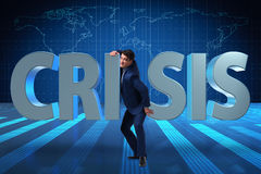 The businessman in crisis business concept Royalty Free Stock Images